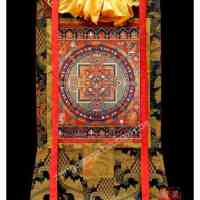 藏宝阁  西藏藏式唐卡画胜乐金刚坛城唐卡藏传佛教密宗佛像菩萨像